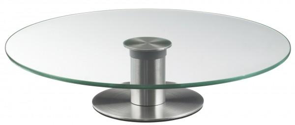 TORTENPLATTE GLAS DREHBAR